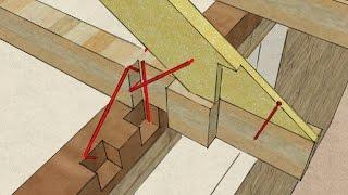 видео Висячие стропила узлы и конструкция