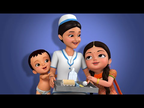Nurse Pillala Pata | Telugu Rhymes For Children | Infobells