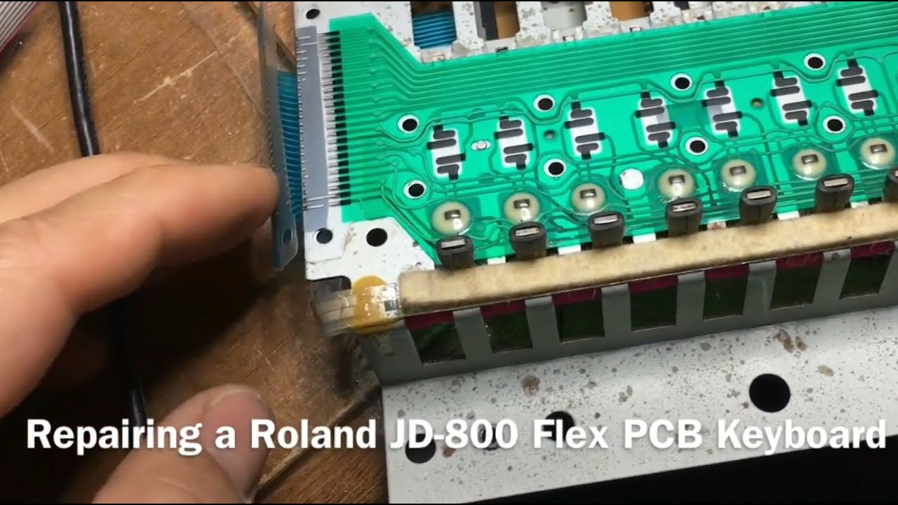 Flex PCB Repair - Roland JD-800 keyboard synthesiser - YouTube