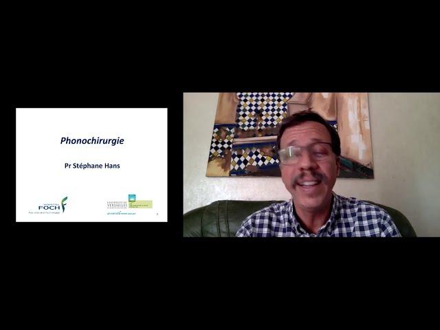 Webinaire:  La pathologie bénigne de la corde vocale
