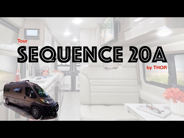 REALLY NICE 😊 Floor Plan TOUR SQUENCE 20A by Thor. Sleep 4. Lithium 🔋. POP-TOP. Class B camper van
