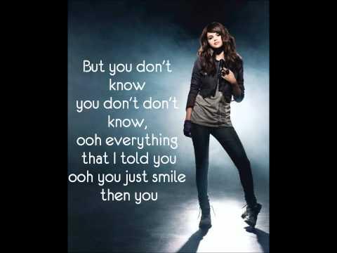 Selena Gomez Kiss and Tell lyrics on screen!