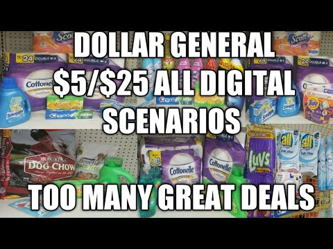 DOLLAR GENERAL $5/$25 ALL DIGITAL SCENARIOS | TOO MANY GREAT DEALS