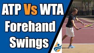 ATP Vs WTA Forehand Swings | 4K