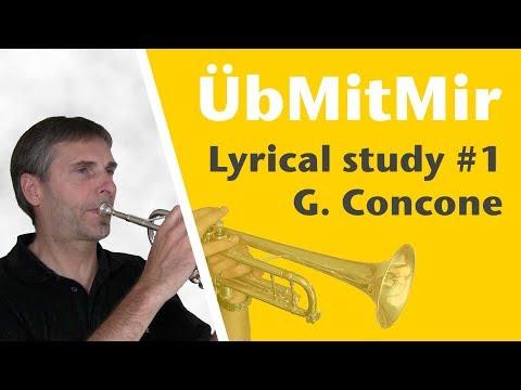G. Concone, Lyrical Studies for Trumpet, Nr. 1 - Moderato