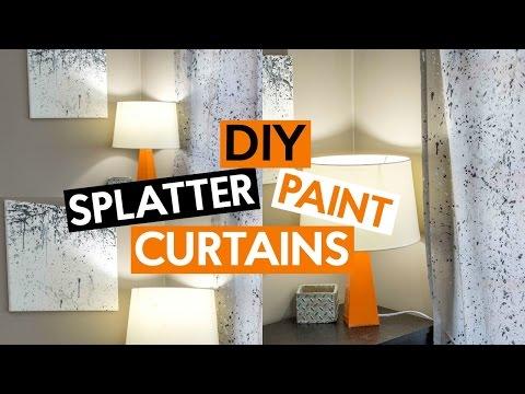 DIY Splatter Paint Curtains