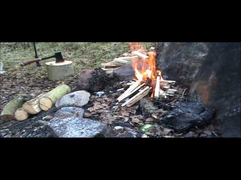 Wild camping, bushcraft overnighter testing The North Face H