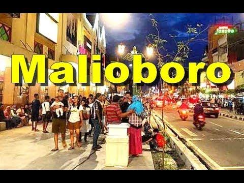 Malioboro In The Evening Suasana Malioboro Di Malam Hari Yogyakarta Indonesia Hd Youtube