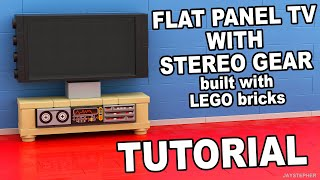 Tutorial - Lego Flat Panel Tv With Stereo Gear [cc]