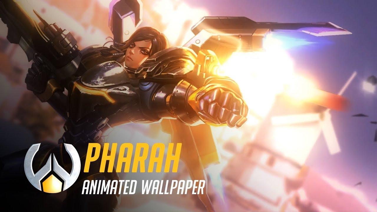Pharah Animated Wallpaper Timelapse Overwatch Youtube