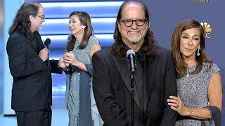 Emmys Proposal: Glenn Weiss and New Fiance Jan Svendsen Backstage (Full Press Conference)