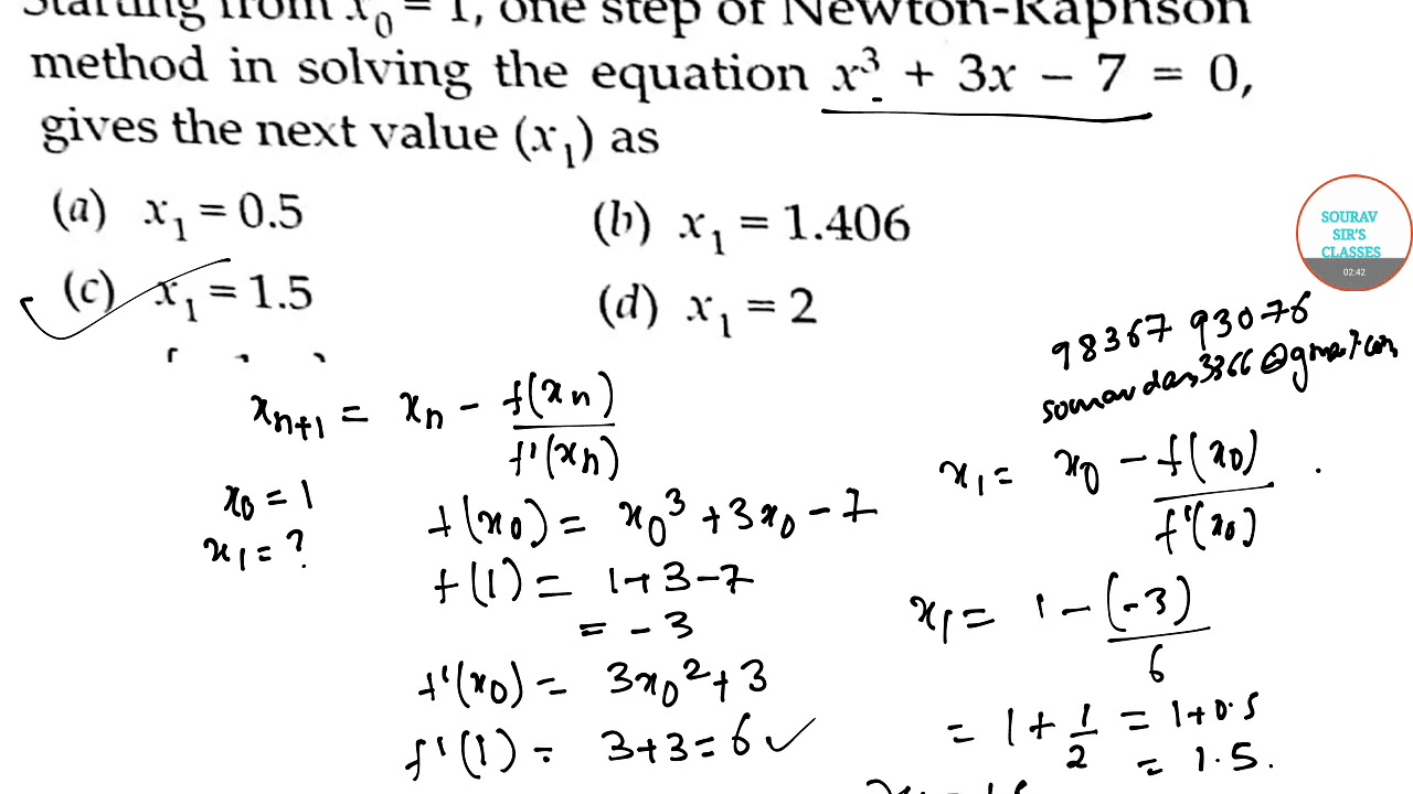 NEWTON RAPHSON METHOD ONLINE LECTURES,YEAR SOLVE,COMPLETE SOLUTION,STUDY  MATERIAL