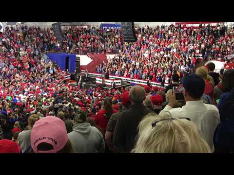 President Donald Trump and Bob Knight - Southport High School (11/2/2018)