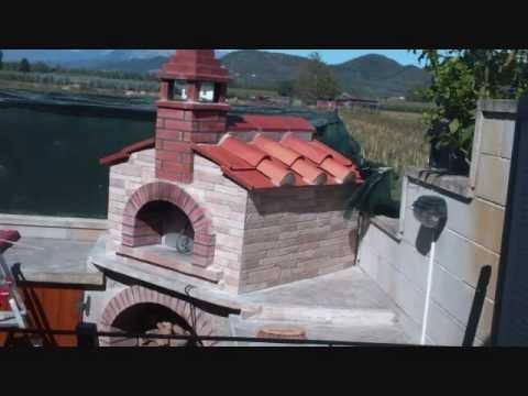 Costruzione forno a legna ad angolo youtube - Forno pizza casa legna ...