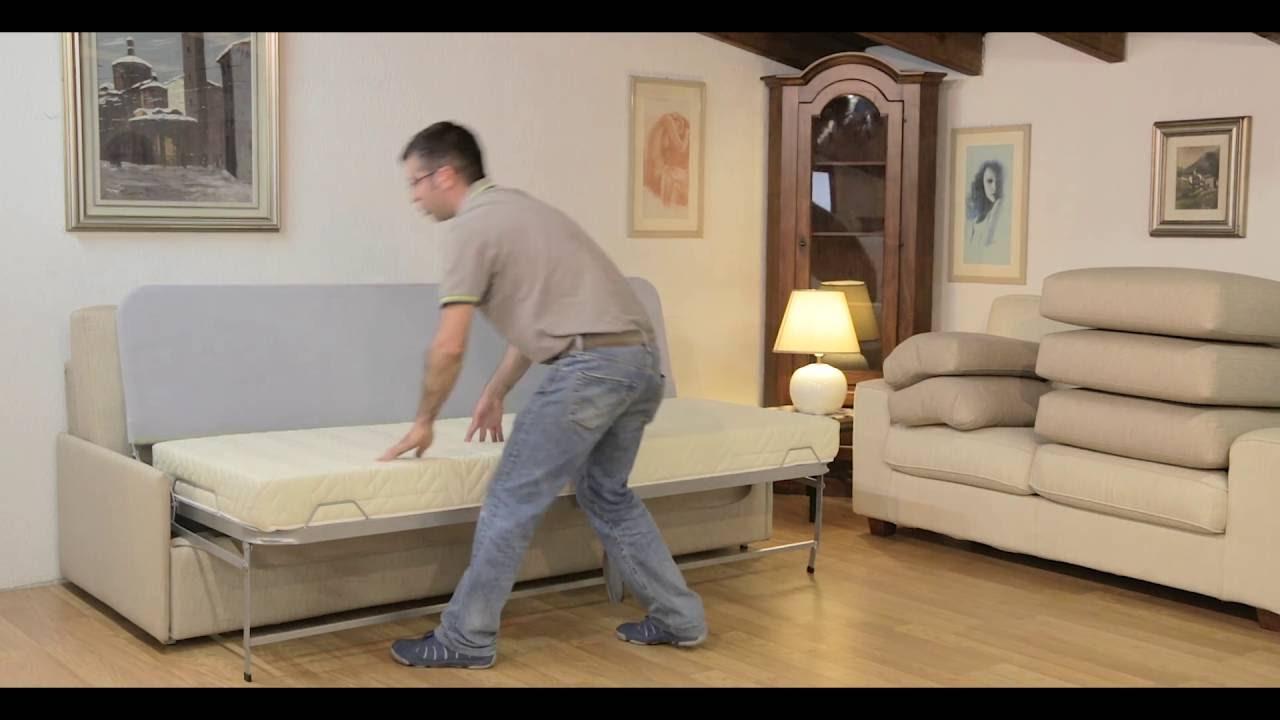 Divano con letto singolo estraibile divano prontoletto for Divano letto pronto
