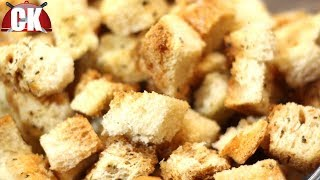 How To Make Croutons In The Microwave Oven!