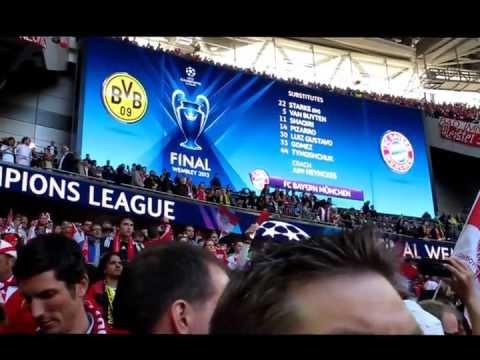 Wembley-Stadion, London, 25. Mai 2013: Die Mannschaftsausstellung Des FC Bayern München
