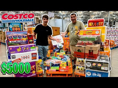 Buying All The Snacks And Candy At Costco!  *$5,000*