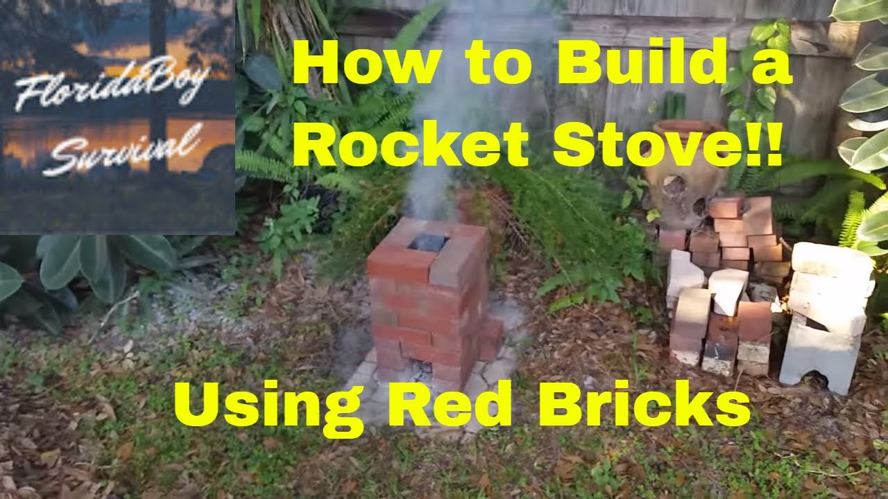 how to build a rocket stove florida style youtube