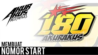 Tutorial Corel Draw - Design Nomor Start Racing | Akurakus