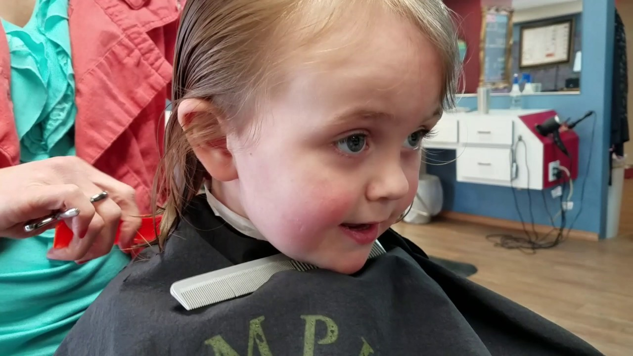 Fenix Gets His Very 1st Haircut 3 Years Old Youtube