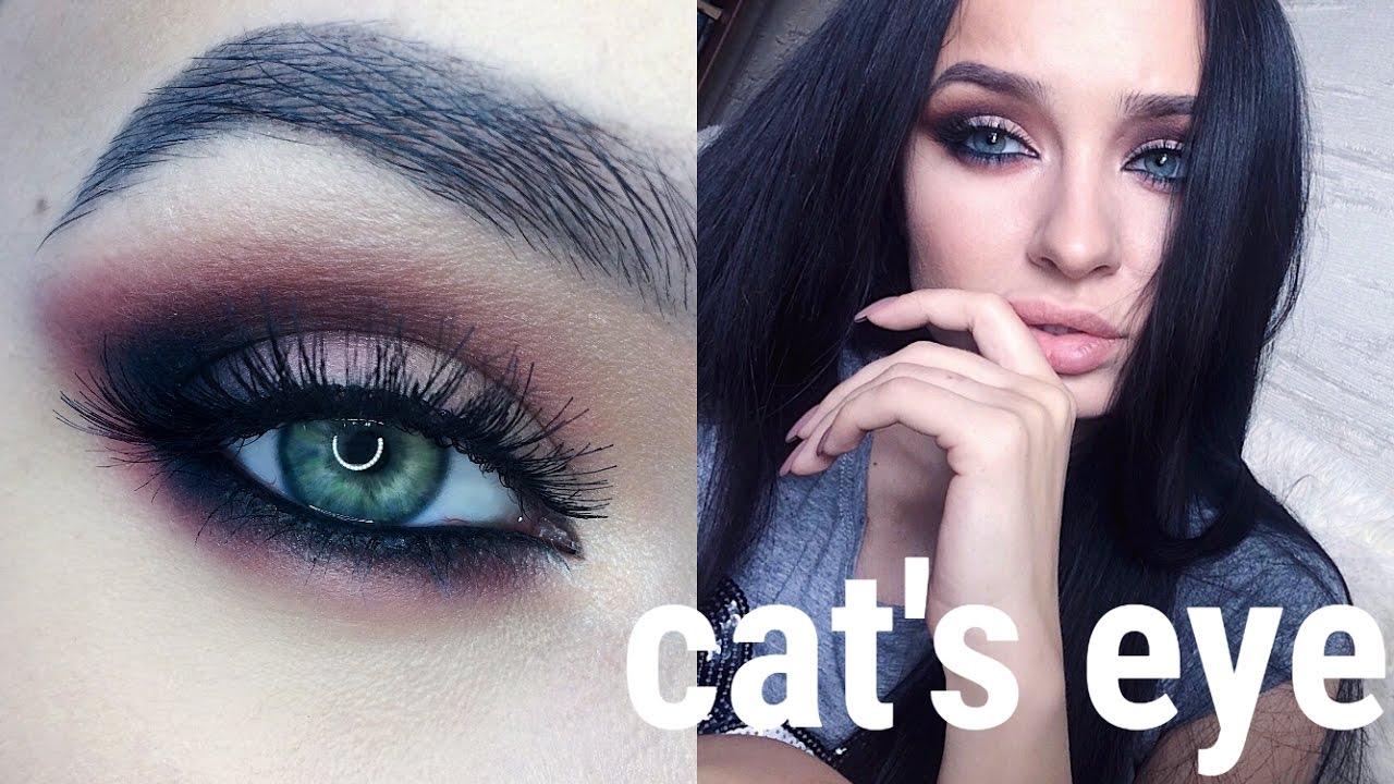 фото кошачий глаз макияж