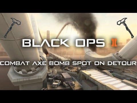 Black Ops 2 Detour Combat Axe Bomb Spots - Vengeance DLC Map Pack