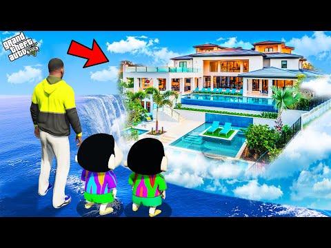 GTA 5 : Shinchan Buy Luxury Water House To Surprise Franklin And Pinchan in GTA 5 ! (GTA 5 mods)