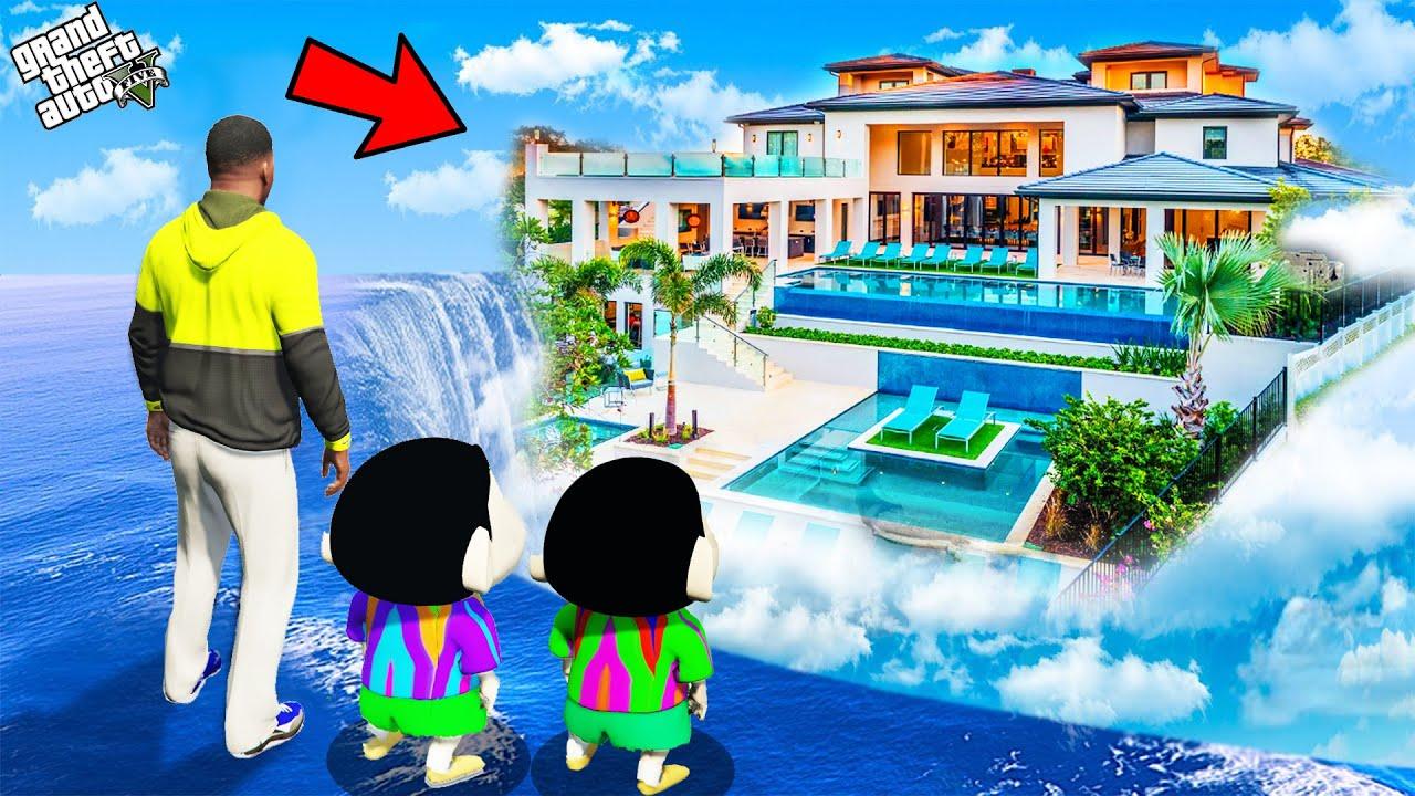 Download GTA 5 : Shinchan Buy Luxury Water House To Surprise Franklin And Pinchan in GTA 5 ! (GTA 5 mods)