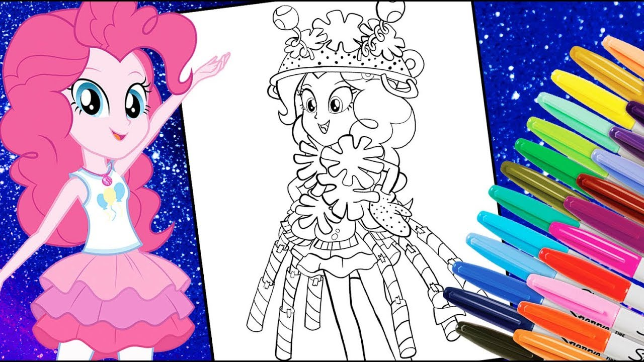 My little pony Equestria girl colouring
