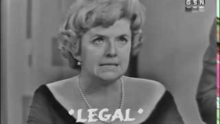 PASSWORD 1962-11-25 Peggy Cass & Jack Paar