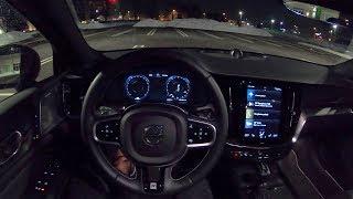 2019 Volvo S60 T6 R-Design - POV Night Drive (Binaural Audio)