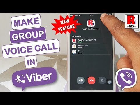 HOW TO MAKE A GROUP VOICE CALL IN VIBER | NEW FEATURE (2019)
