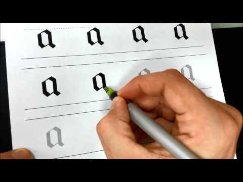 Blackletter script - Aa - lowercase