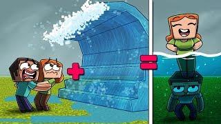 Minecraft | Boy + Girl + Tsunami = CHEATING!? (Boy vs Girl Tsunami)