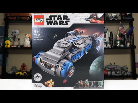 LEGO Star Wars 75293 Resistance I-TS Transport Review! (2020)