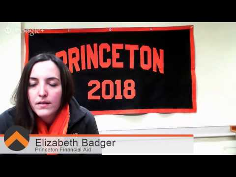 Hangout On Air with Princeton Financial Aid