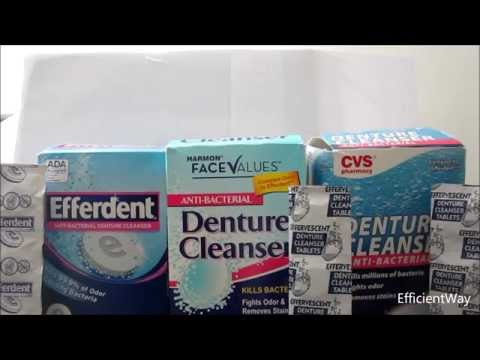 Efferdent Denture Cleanser- review of Night Guard & Retainer Cleaners