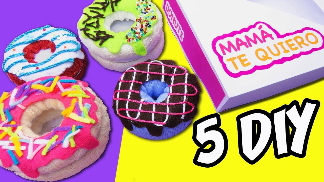 Ideas con donuts de calcetines regalos para el d a de la - Regalos para el dia de la madre manualidades ...