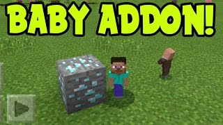 MINECRAFT PE 0.16.0 MINI BABY CHARACTER MODS // 0.16.0 ADDONS Minecraft PE (Pocket Ediiton)