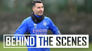 🔥  What a finish from Martinelli | Behind the scenes at Arsenal training centre