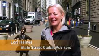 Weirdo of Wall Street: Suit-clad man caught on camera humping newly installed 'Fearless Girl' statue