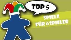 Top 5 Spiele für 6 Spieler