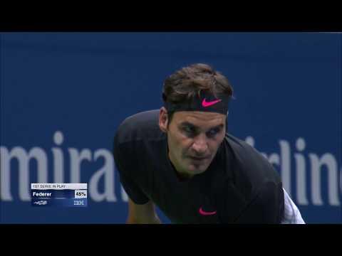 Roger Federer vs Frances Tiafoe highlights US Open 2017