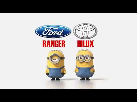 Ford Ranger vs Toyota Hilux 4x4 Minions style