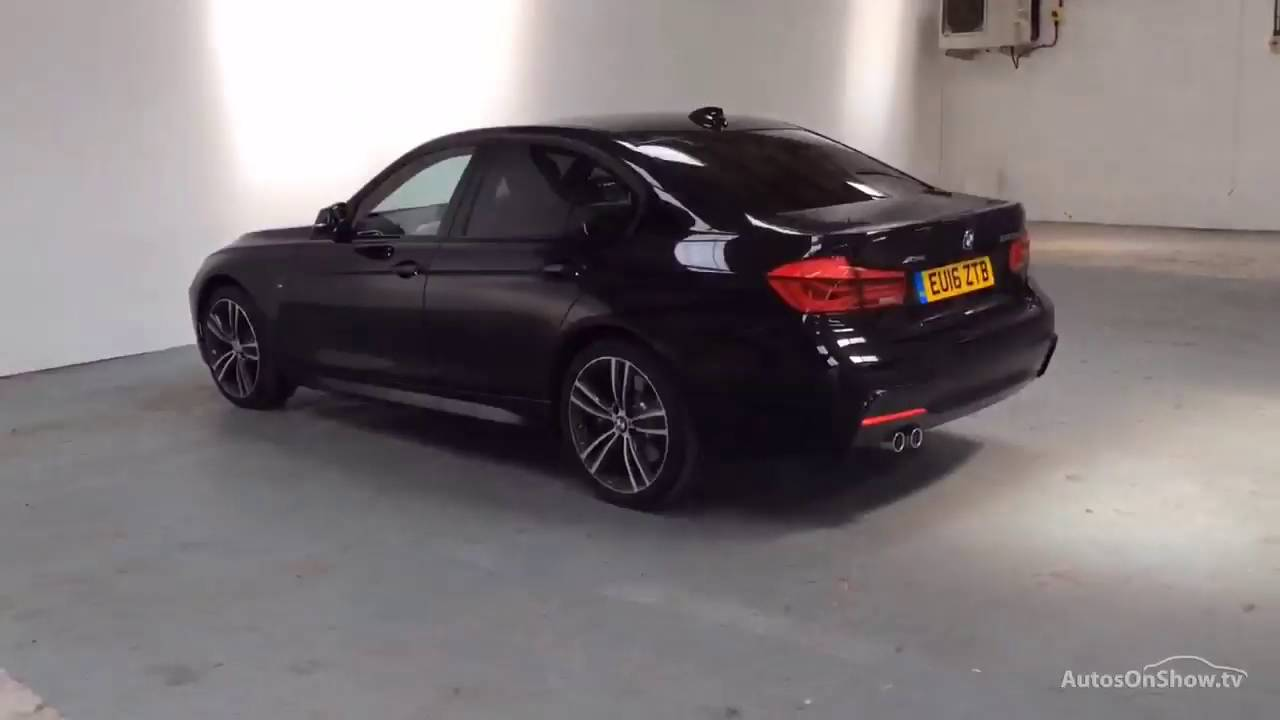 bmw 3 series 320d xdrive m sport black 2016 youtube. Black Bedroom Furniture Sets. Home Design Ideas