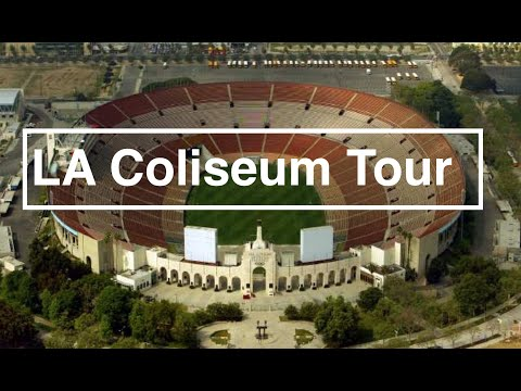 USC Football Coliseum Drone Tour