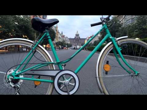 Green Women Retro Bike [Vintage Bike's & City Tours] Prague Rental Czech Republic
