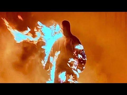 KANYE LIT HIMSELF ON FIRE  (Donda Listening Party VLOG: Chicago)