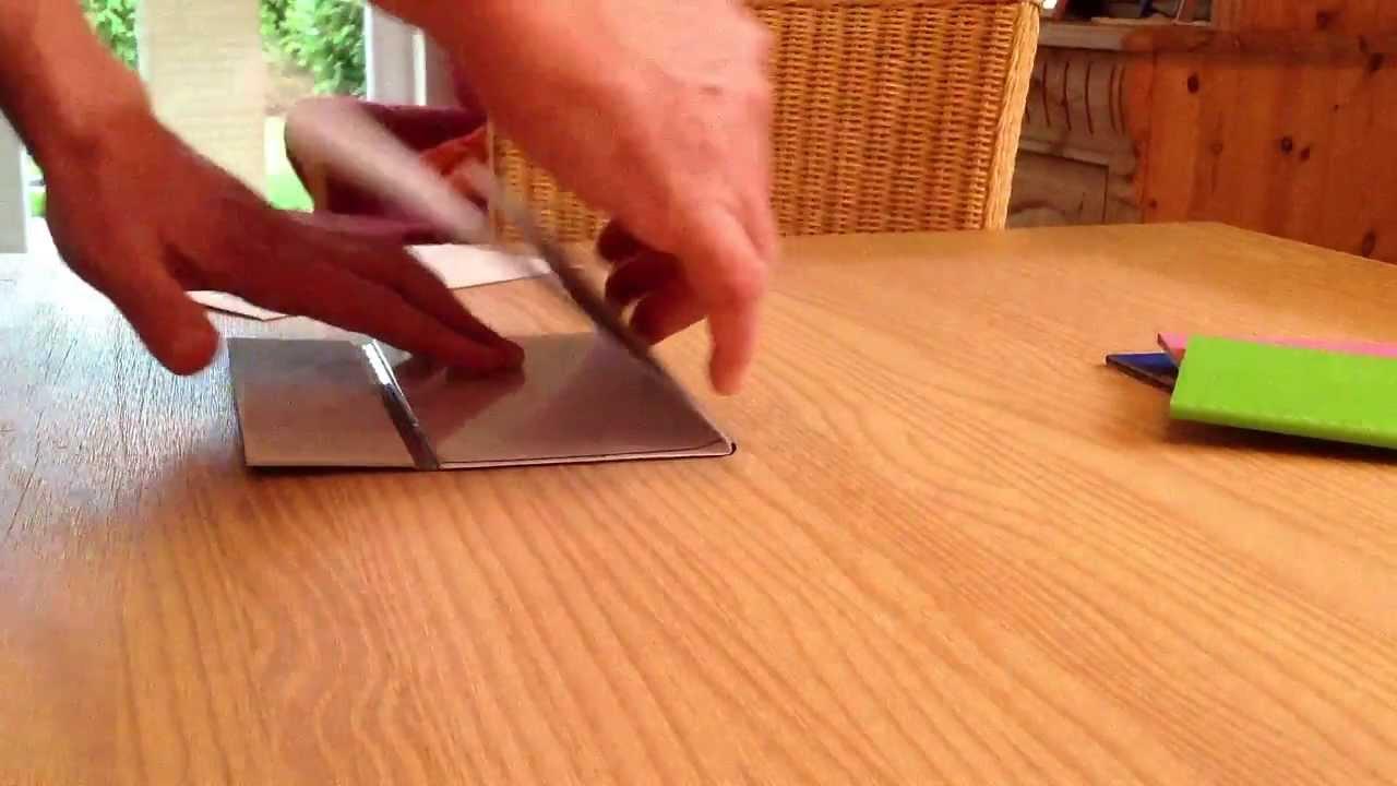 Falzmaschine Falzgerät Brieffalter Din A4 In Din Lang Youtube